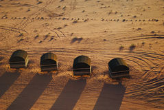 Bedouin camp in Wadi Rum desert, Jordan. Wadi Rum (Arabic: وادي رم) also known as The Valley of the Moon (Arabic: وادي القمر) is a valley Stock Photos