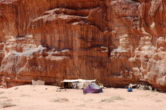 Bedouin camp in Wadi Rum desert, Jordan Royalty Free Stock Photography