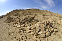 Bedouin cemetery in Negev. Stock Images