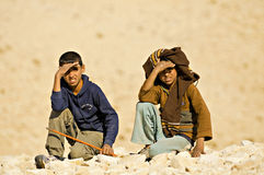 Bedouin children Stock Images