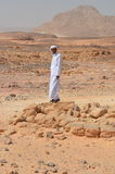 A bedouin in the desert, Egypt Royalty Free Stock Photo