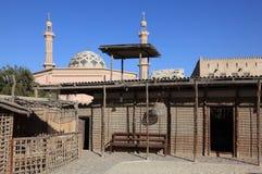 Bedouin Dorp in Museum Ajman stock afbeelding
