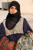 Bedouin girl in ancient city of Palmyra - Syria Stock Photos