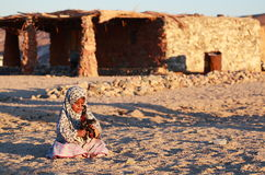 Bedouin girl Stock Images