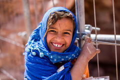 Bedouin girl Petra Jordan Royalty Free Stock Photos