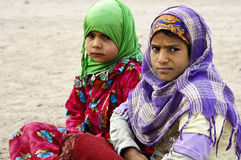 Bedouin girls Stock Images