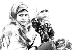 Bedouin girls Royalty Free Stock Images