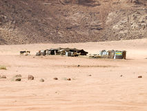 Bedouin home in Wadi Rum Stock Photos