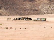 Bedouin home in Wadi Rum Stock Photos