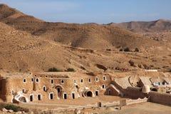 Bedouin house. Near Matmata in Tunisia stock photo