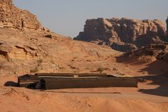 Bedouin house in Wadi Rum Stock Photography
