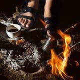 Bedouin koffie Stock Afbeelding