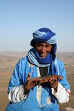 Bedouin with lizzard Royalty Free Stock Image