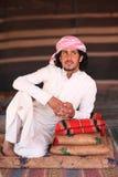 Bedouin man. Young Bedouin man, in his tent in the desert of Wadi Rum, Jordan stock image