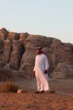 Bedouin man. In the desert around Petra, Jordan stock photography