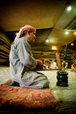 Bedouin man plays stringed instrument Stock Image