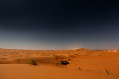 Bedouin nomad tent camp. In Merzouga dunes, Morocco Royalty Free Stock Photo