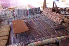 Bedouin restaurant in de stad van Daha stock foto's
