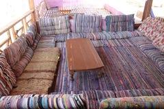 Bedouin restaurant in de stad van Daha royalty-vrije stock fotografie