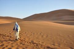 Bedouin in the Sahara desert Stock Image