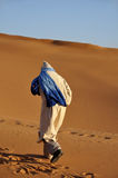 Bedouin in the Sahara desert. Morocco Africa Royalty Free Stock Photography