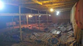 Bedouin Settlements in the Egyptian Desert at Night stock footage