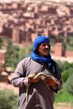 Bedouin with snake Royalty Free Stock Images