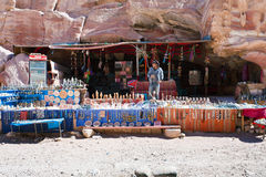 Bedouin souvenir shop in Petra, Jordan Stock Images