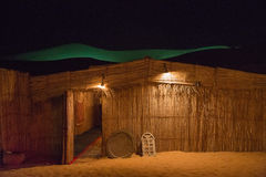 Bedouin straw hut Stock Photos