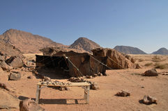 Bedouin tent. At Wadi Rum desert, Jordan Royalty Free Stock Photography