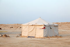 Bedouin tent in the desert. Of Qatar, Middle East royalty free stock images