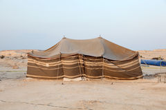 Bedouin tent in the desert royalty free stock photos