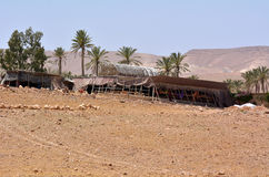 Bedouin tent in Israel Stock Photo