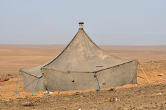 Bedouin tent in the Sahara desert Stock Photo