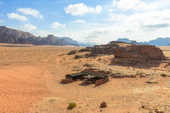 Bedouin tent in Wadi Rum desert Stock Photo
