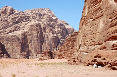 Bedouin tent in Wadi Rum, Jordan Stock Photography