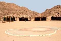 Bedouin village. Nearby Hurghada, Egypt Royalty Free Stock Photography