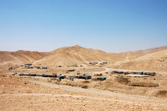Bedouin village. Royalty Free Stock Images