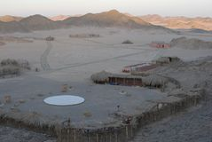 Bedouin Village. In the desert of Egypt stock photography