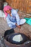 Bedouin village on desert in Egypt Stock Photos