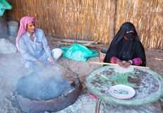 Bedouin village on desert in Egypt Royalty Free Stock Photos