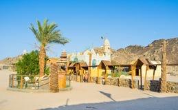 The Bedouin village. The tourist Bedouin village, located in Sahara, next to Hurghada resort, Egypt stock photos