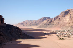 Bedouin village in Wadi Rum, Jordan. Stock Photography