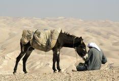 Bedouin zitten Stock Fotografie