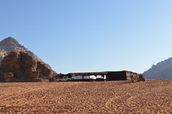 Bedouine tent Wadi Rum Jordan Royalty Free Stock Photography