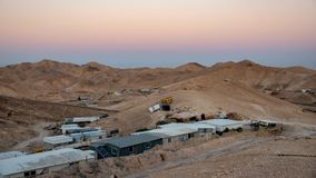 Bedouins camp at the Negev desert stock photos
