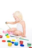 Bedraggled girl with bright colors Royalty Free Stock Photo
