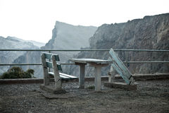 Bedraggled lookout point on madeira Stock Images