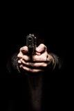 Bedreiging met een vuurwapen stock afbeeldingen