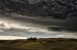Bedreiging in Val D'orcia Stock Foto